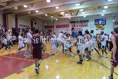 2/24/2018 - Sandy Spring Friends School defeats St. Anselm's Abbey 74-64 in the PVAC Championship, ©2018 Jacqui South Photography