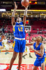 3/8/2018 - Gaithersburg sophomore forward Jahdel Darego (42) shoots a layup in the Maryland 4A Boys Semifinal, Gaithersburg v Perry Hall, ©2018 Jacqui South Photography