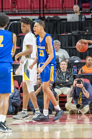 3/8/2018 - Gaithersburg freshman guard Jordan Hawkins (23), Gaithersburg v Perry Hall Boys 4A Semifinals, ©2018 Jacqui South Photography
