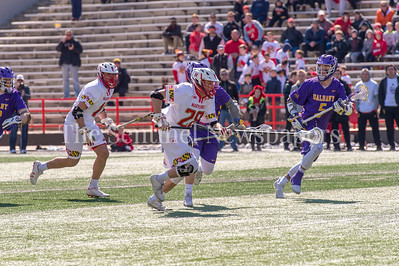 3/10/2018 - Maryland long stick middie Matt Neufeldt (28), Albany v Maryland Men's Lacrosse, ©2018 Jacqui South Photography