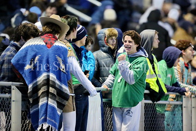 George P. Smith/The Montgomery Sentinel    Georgetown Prep students celebrate after  John Ridgway (#2) tied the game at 6-6 to send it into overtime.