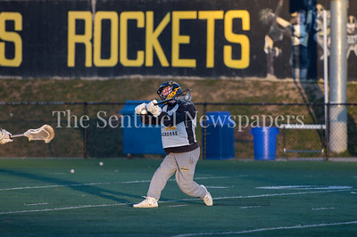 3/16/2018 -Richard Montgomery middie Jimmy Muha (1) with a shot attempt,  Magruder v Richard Montgomery Boys Lacrosse, ©2018 Jacqui South Photography