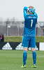 Goalkeeper David Ousted of DC United watches in frustration as DC United's shot attempt is stopped by Houston Keeper Joe Willis. PHOTO BY MIKE CLARK