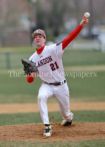 George P. Smith/The Montgomery Sentinel     Landon's startring pitcher John DeNovio (#21).