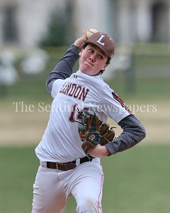 George P. Smith/The Montgomery Sentinel    Landon's John Cope (#14) came in in relief of starting pitcher John DeNovio.