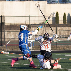 Francis Rose of Gaithersburg fires this goal-scoring shot from over 20 yards out. The Rockville offense proved too much as they notched the 18-8 victory. PHOTO BY MIKE CLARK
