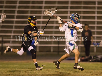 Merrick Willieford (1) of Churchill gets a late 4th quarter goal against Richard Montgomery Defenders. PHOTO BY MIKE CLARK