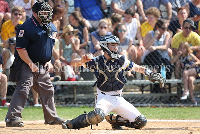 George P. Smith/The Montgomery Sentinel    Bethesda-Chevy Chase High School catcher Jed Alterman (7).