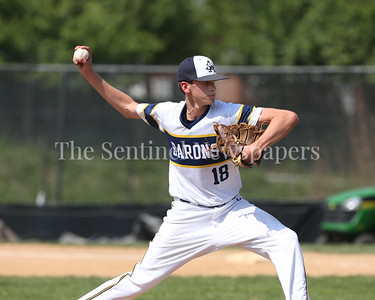 George P. Smith/The Montgomery Sentinel    Bethesda-Chevy Chase High School pitcher Brendan Hughes (18).