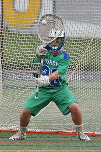 George P. Smith/The Montgomery Sentinel    Winston Churchill High School goalie Andrew Robinson (25). Churchill High School defeated Howard High School 14-4  to advance to the State Final in a rematch of last years pairing against Severna Park High School starting at 8PM on Wednesday, May 23, 2018 at Stevenson University's Mustang Stadium in Owings Mill, MD       https://www.mpssaa.org/2018-boys-and-girls-lacrosse-state-finals-match-ups-set-for-tuesday-522-through-thursday-524/
