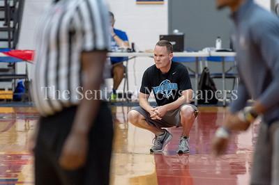 6/25/2018 - Whitman Coach Chris Lun, Good Counsel v Whitman Boys Basketball, ©2018 Jacqui South Photography