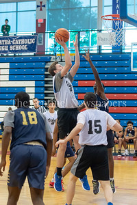 6/25/2018 - Michael Bass shoots after getting an offensive rebound, Capitol Hoops summer league at DeMatha High School, Good Counsel v Whitman Boys Basketball, ©2018 Jacqui South Photography