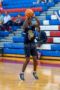 6/25/2018 - Good Counsel's Montell Cooper (0) shoots a 3-point shot, Capitol Hoops summer league at DeMatha High School, Good Counsel v Whitman Boys Basketball, ©2018 Jacqui South Photography