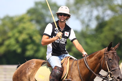 George P. Smith/The Montgomery Sentinel    Andres Prado during a polo match at the Congressional Polo Club in Poolesville, Maryland on Sunday, August 5, 2018.