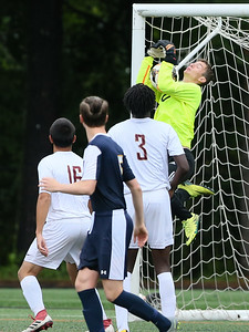 B-CC Baron's Goalie Bennett Schwartz has an outstanding game against Paint Branch. . PHOTO BY MIKE CLARK