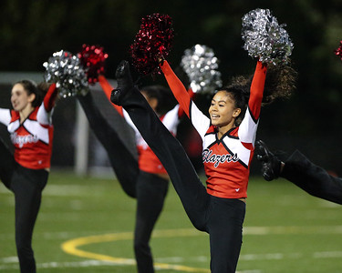 Blair Blazers' Pom Squad provide the Homecoming Half-Time Entertainment. PHOTO BY MIKE CLARK