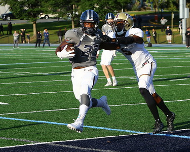 George P. Smith/The Montgomery Sentinel    Georgetown Prep's sprints into the endzone for the Hoyas first touchdown against Landon in the game played on Saturday, October 20, 2018.