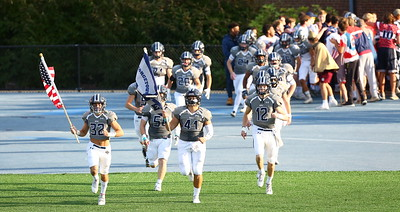 George P. Smith/The Montgomery Sentinel    Georgetown Prep Hoyas take the field before the Landon game on Saturday, October 20, 2018.
