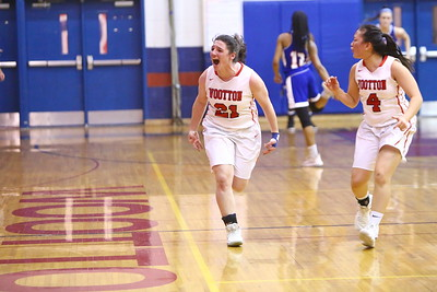 George P. Smith/The Montgomery Sentinel    Wootton's Crystal Bridge (21) shows some emotion coming down the court after scoring a basket.