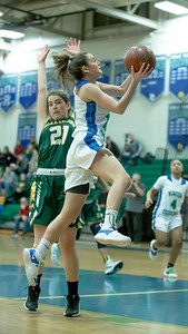 Cat Correa of Churchill cuts through the Damascus defense for a 2nd half lay-up. PHOTO BY MIKE CLARK