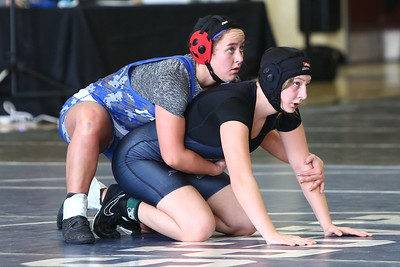 George P. Smith/The Montgomery Sentinel   Northwest's Kiersten Madoo finished 2nd in the 144 lb weight class defeating Lackey's Skylar Harley.