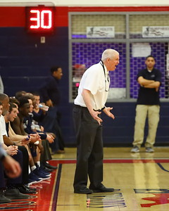 George P. Smith/The Montgomery Sentinel    Magruder head coach Dan Harwood was incredulous most of the game as his team played a sloppy, error-filled game.