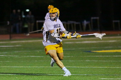 George P. Smith/The Montgomery Sentinel    Bullis' Robert Schain (19), a senior and team captain, winds up to take a shot at the St. Alban's goal. His goal with 59.1 seconds left in the 3rd period, made it 9-2 Bullis over St. Alban's.