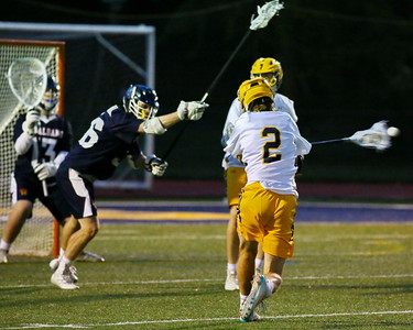 George P. Smith/The Montgomery Sentinel    Bullis' Spencer Hughes (2) with a shot on goal.