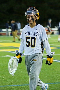 George P. Smith/The Montgomery Sentinel    Bullis' sophomore goalie Jack Fracyon (50) kept St. Alban's scoring to a minimum as behind a blistering offense that helped Bullis win 13-3 in the game played Aril 26, 2019 in Potomac.
