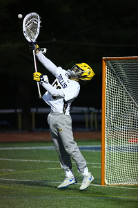 George P. Smith/The Montgomery Sentinel    Bullis' goalie Jack Fracyon (50).