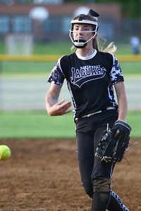 George P. Smith/The Montgomery Sentinel    Northwest pitcher Amber Yuille (14).
