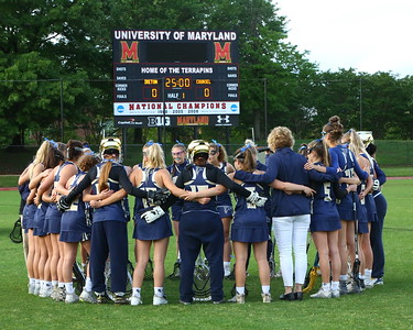 George P. Smith/The Montgomery Sentinel    The Good Counsel girls before the WCAC Final played at the UMCP Ludwig Field against the Bishop Ireton Cardinals on May 13, 2019.