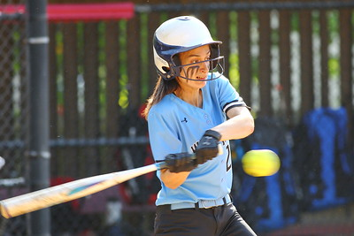 George P. Smith/The Montgomery Sentinel    Walt Whitman's 1st baseman Alyssa Kline (12) at bat.