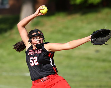 George P. Smith/The Montgomery Sentinel    Quince Orchard's pitcher Tehya Harbaugh (52).