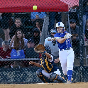 Samantha Combs and the rest of the Sherwood Warriors produced enough runs to beat Bowie 3-2 and move onto the 4A finals against Glen Burnie. PHOTO BY MIKE CLARK