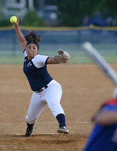 Bowie Pitcher Taylor Ivey limited Sherwood to three runs but that proved enough for the Warriors to advance to the 4A finals. PHOTO BY MIKE CLARK