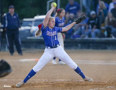 Sherwood Pitcher Samantha Combs limits Bowie to four hits in a complete game victory. PHOTO BY MIKE CLARK