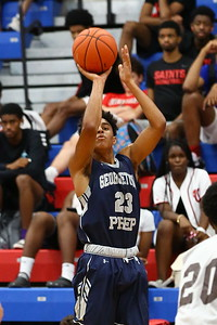 George P. Smith/The Montgomery Sentinel    Georgetown Prep's Quentin Southall (23) with the jump shot.