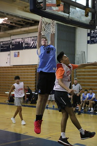 George P. Smith/The Montgomery Sentinel    Whitman's Michael Bass (30) gets it over the rim for 2.