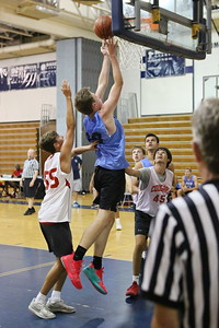 George P. Smith/The Montgomery Sentinel    Whitman's Michael Bass (30) off the glass for 2.