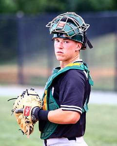 George P. Smith/The Montgomery Sentinel    Bethesda Big Train's  catcher Matt Thomas (16)
