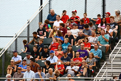 George P. Smith/The Montgomery Sentinel    A nice turnout for the Cal Ripken Collegiate Baseball League (CRCBL) League Championship Series Game 2 (of 3) between the Bethesda Big Train and the Silver Spring-Takoma Thunderbolts played at Montgomery Blair High School,