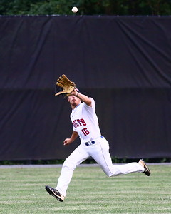 George P. Smith/The Montgomery Sentinel    Silver Spring-Takoma Thunderbolts' Cole Friese (16) gets under this hit to the outfield.