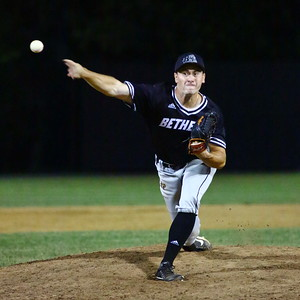 George P. Smith/The Montgomery Sentinel    Bethesda Big Train's Ryan Metz (10) pitching in relief.