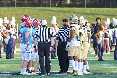 George P. Smith/The Montgomery Sentinel    Good Counsel and Charlotte Catholic High School at the coin toss.