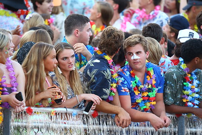 George P. Smith/The Montgomery Sentinel    The Good Counsel student section in a luau mood.