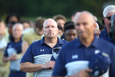 George P. Smith/The Montgomery Sentinel    Good Counsel Varsity Football Secondary Coach & Recruiting Coordinator J.D. Noell