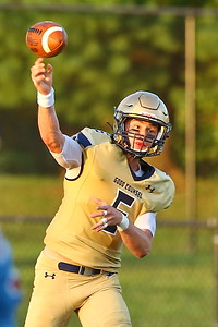 George P. Smith/The Montgomery Sentinel    Good Counsel's Trace Campbell (6) throwing upfield.