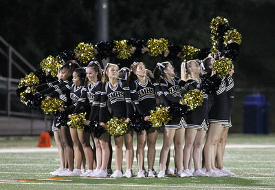 September 13, 2019: Richard Montgomery cheerleaders perform at halftime during HS football action between Churchill HS and Richard Montgomery HS in Rockville, MD. Photos by Chris Thompkins/Montgomery County Sentinel