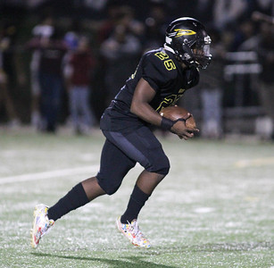 September 13, 2019: Richard Montgomery Nicholas McCarthy (25) returns an punt return during HS football action between Churchill HS and Richard Montgomery HS in Rockville, MD. Photos by Chris Thompkins/Montgomery County Sentinel